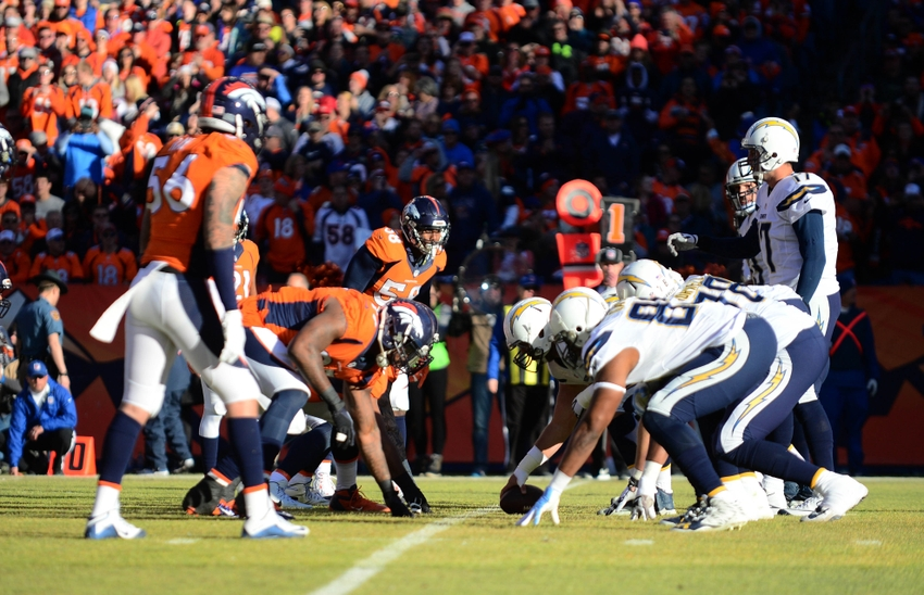 Image result for Denver Broncos and San Diego Chargers 2016