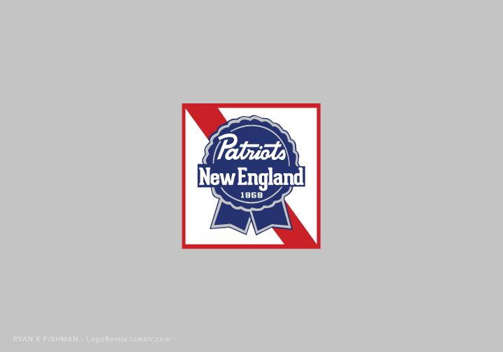Nfl logos remixed with corporate logos new england patriots mixed with pabst blue ribbon voltagebd Gallery