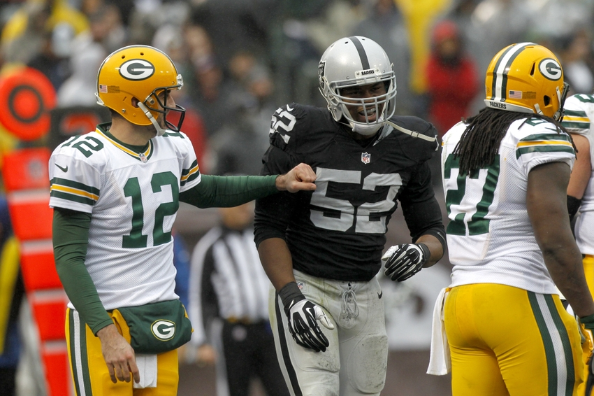 Khalil Mack Aaron Rodgers Nfl Green Bay Packers Oakland Raiders Debunking Misconceptions Page