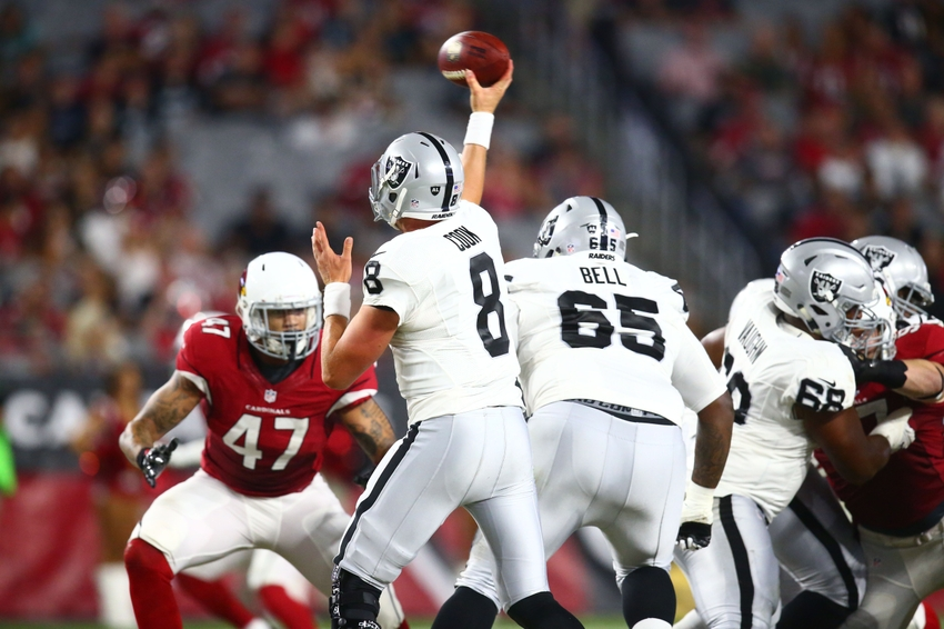After The Oakland Raiders Debut Performance Against Arizona Cardinals What S Latest Projection On 53 Man Depth Chart