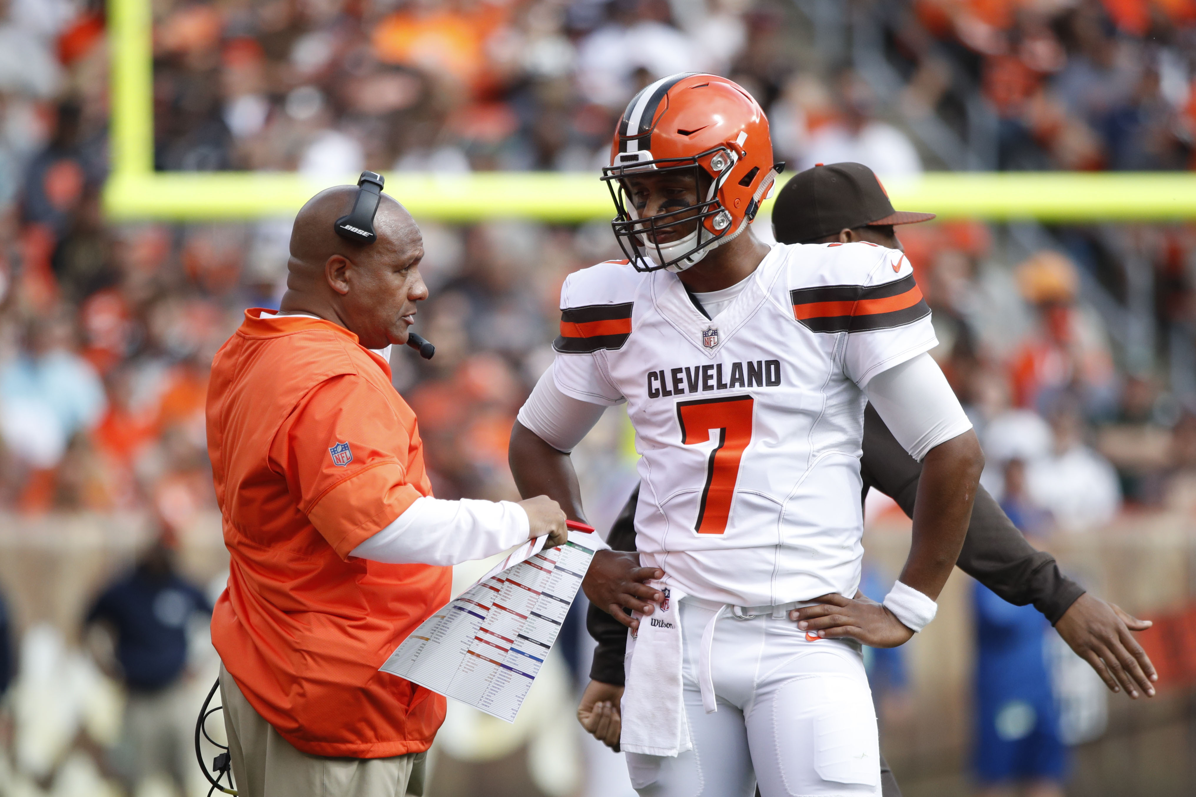 John Dorsey thinks Hue Jackson will be Browns' coach next season